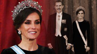 El secreto que nadie conocía del vestido de gala de Letizia