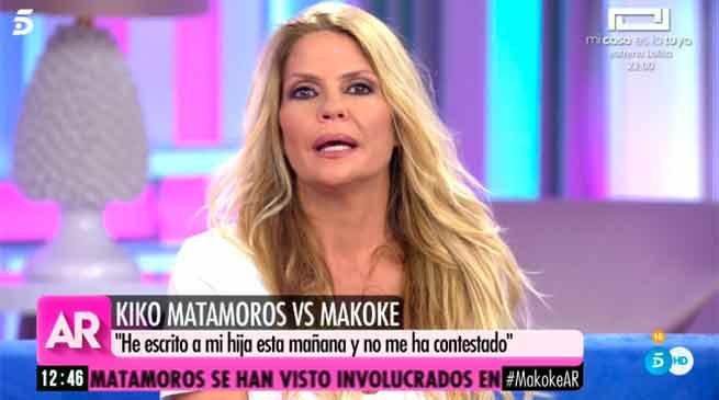 Makoke defiende a Anita Matamoros tras conocerse que no habla a su padre