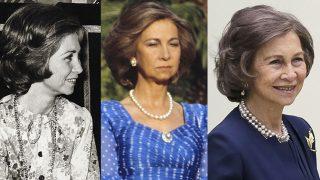 La reina Sofía siempre ha lucido el mismo peinado /Fotomontaje de Look