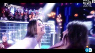 Sandra Barneda y Nagore Robles, muy cariñosas en el Debate de GH VIP./Mediaset