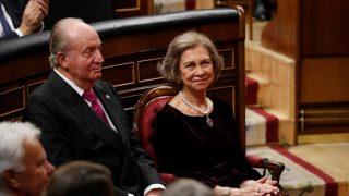 Don Juan Carlos y doña Sofía, en el Congreso / Gtres.