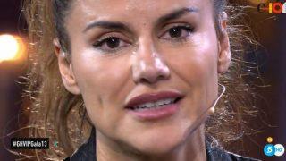 Mónica Hoyos en el plató de GH VIP./Mediaset