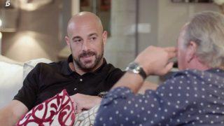 Pepe Reina, durante su entrevista con Bertín / Telecinco.