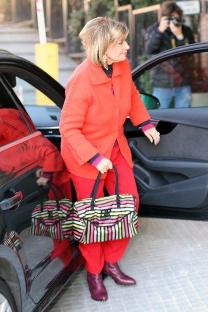 María Teresa Campos llega al hospital para apoyar a su hija / Gtres.