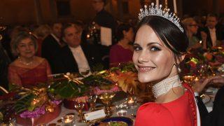 Sofía de Suecia durante el banquete de los Nobel / Gtres