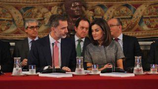 Los Reyes durante la reunión / Gtres