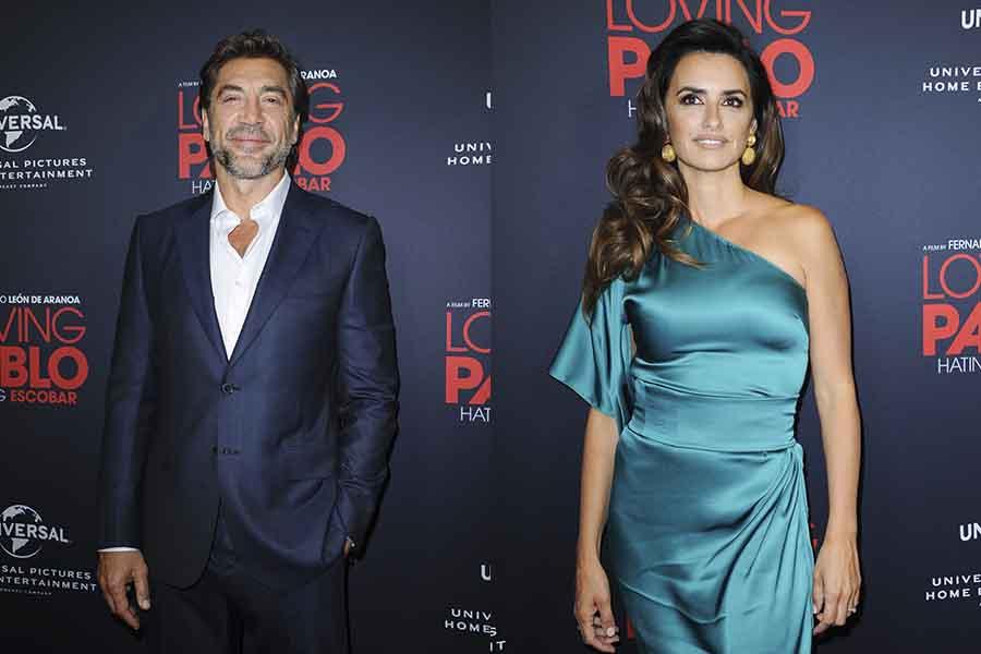 Javier Bardem y Penélope Cruz durante la presentación de 'Loving Pablo'