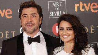 Penélope Cruz y Javier Bardem durante la ceremonia de los Premios Goya de 2018 / Gtres