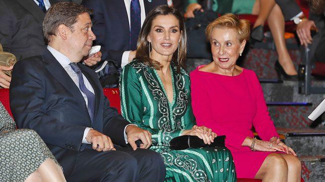 ¿A quién le ha copiado doña Letizia su nuevo vestido verde?