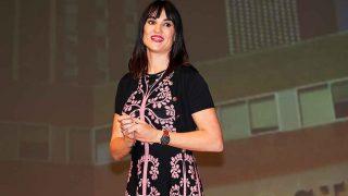 Irene Villa, durante una charla / Gtres