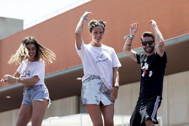 Laura Matamoros, Pelayo Díaz y Dulceida durante el festival 'Dulceweekend'