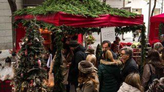 Mercado de las Flores de Navidad de Distrito 41, en Madrid.