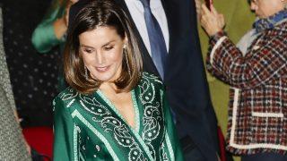 La reina Letizia con el vestido verde / Gtres