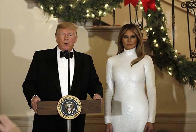 melania trump donald navidad