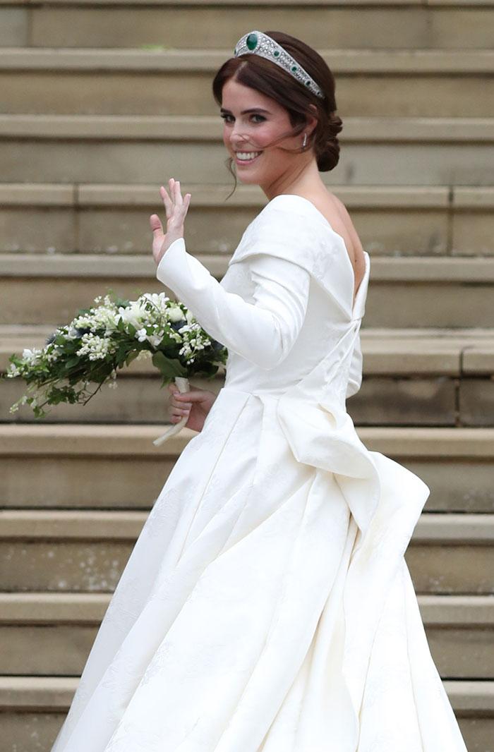 La princesa Eugenia de York el día de su boda