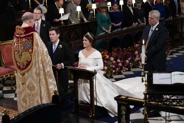 Eugenia de York y Jack Brooksbank el día de su boda