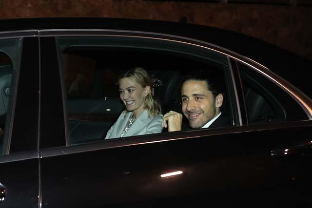 Marta Ortega y Carlos Torreta llegando en coche a la celebración de su boda