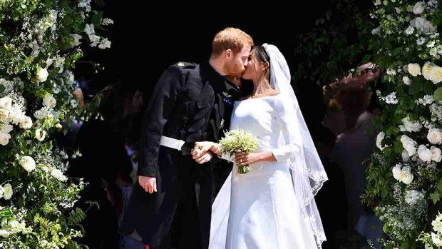 El Príncipe Harry y Meghan Markle el día de su boda