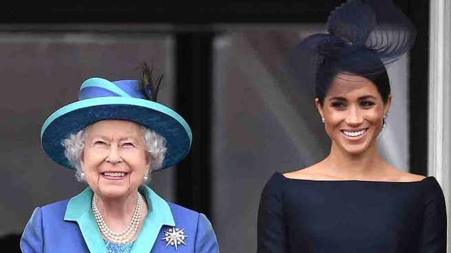 Isabel II y Meghan Markle