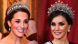 Kate Middleton y la reina Letizia / Gtres