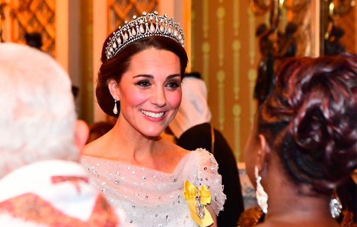 Kate Middleton con la tiara favorita de Lady Di