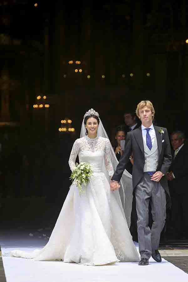 Sassa de Osma y Christian de Hannover el día de su boda