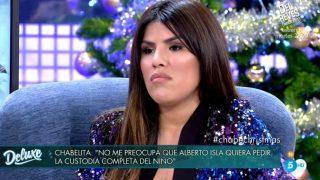 Isa Pantoja, durante su entrevista en 'Sábado Deluxe' / Telecinco.