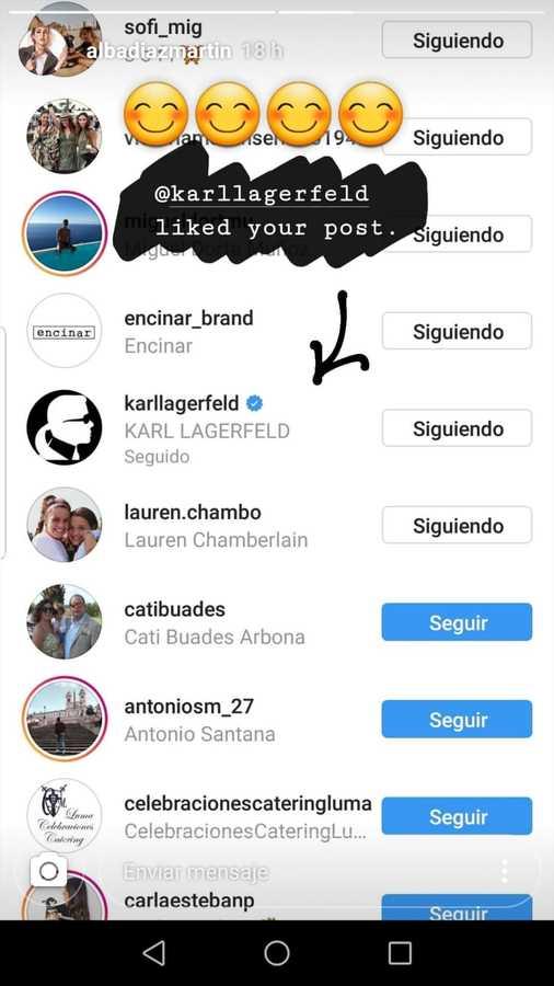 El 'like' de Karl Lagerfeld a Alba Díaz