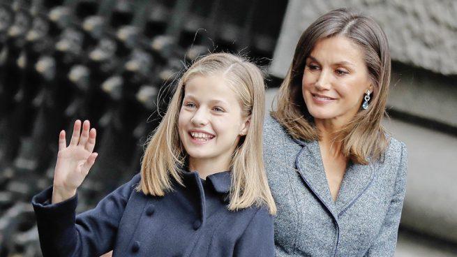 La reina Letizia y Leonor princesa de Asturias