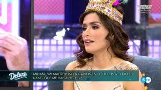 Miriam Saavedra, en 'Sábado Deluxe' / Telecinco.