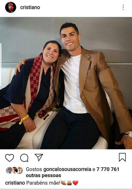 Cristiano Ronaldo, Dolores Aveiro