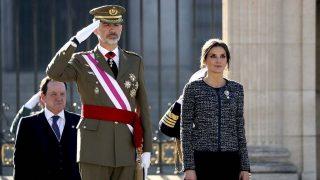 Los Reyes reaparecen en la Pascua Militar tras sus vacaciones navideñas/ Gtres