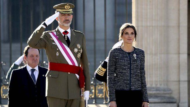 Los reyes reaparecen tras sus vacaciones navideñas en la primera Pascua Militar del presidente Sánchez
