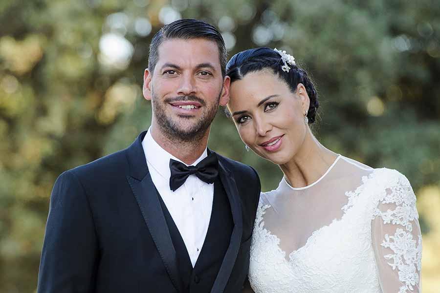 René Ramos y Vania Millán el día de su boda en julio de 2014