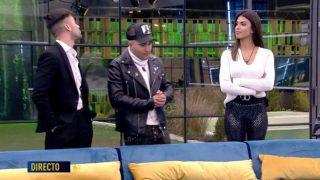 Alejandro Albalá, Kiko Rivera y Sofía Suescun se ven las caras en GH DÚO./Mediaset