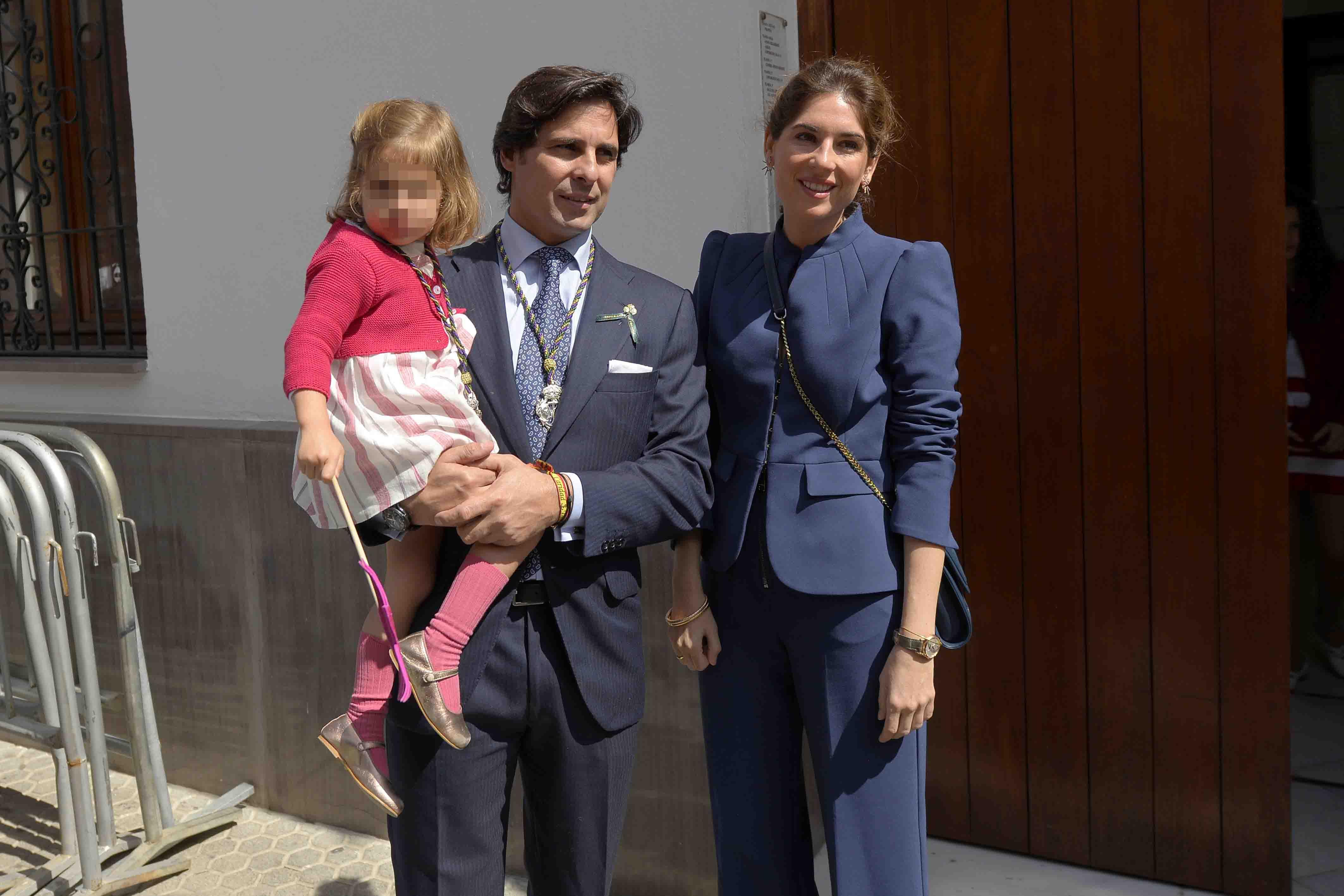 Francisco Rivera, Lourdes Montes y su hija Carmen en una imagen de archivo