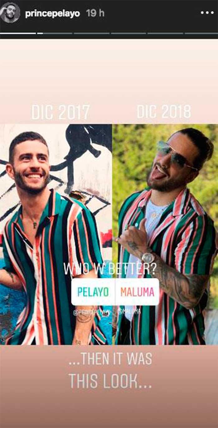 Maluma copia a Pelayo redes sociales