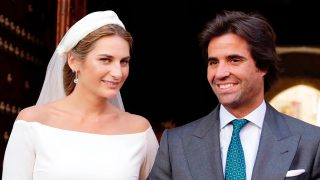 Sibi y Álvaro el día de su boda / Gtres