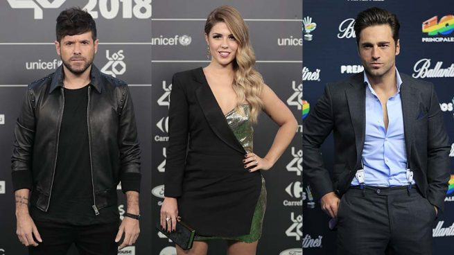 Pablo López, Miriam Rodríguez y David Bustamante