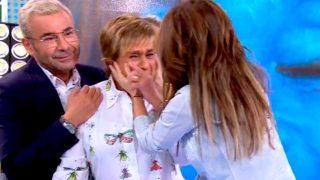 Chelo García Cortés, llorando en Sálvame / Telecinco