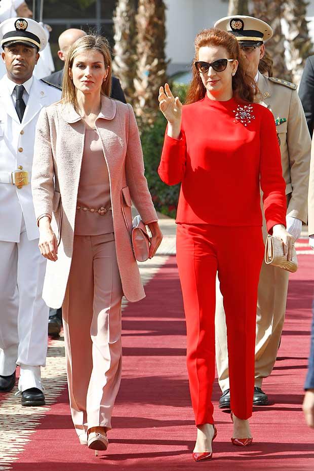 Doña Letizia y Lalla Salma