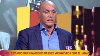 Kiko Matamoros, en 'Sálvame', durante su confesión más romántica / Telecinco.