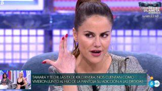 Mónica Hoyos, durante su entrevista / Telecinco.