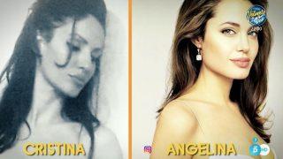 Cristina, novia de Kiko Matamoros, y Angelina Jolie guardan un gran parecido /Mediaset