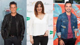 Alejandro Sanz, Ivonne Reyes y Luis Fonsi en un fotomonaje de Look / Gtres