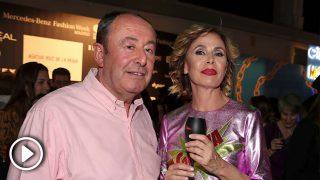 Luis Miguel Rodríguez y Ágatha Ruiz de la Prada aparcan los rumores de crisis en la pasarela / Gtres