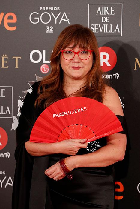 Isabel Coixet Abanico Premios Goya 2018