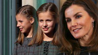 Letizia y sus hijas en un fotomontaje de LOOK