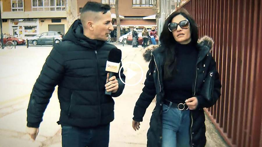 Cristina siendo entrevistada por 'Sálvame'