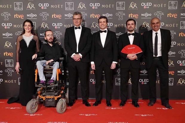 Pablo Echenique durante los Premios Goya 2019